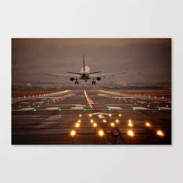 Touchdown, well almost! Canvas Print