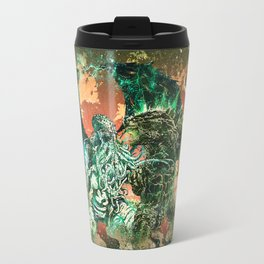 Cthulhu vs Godzilla Travel Mug