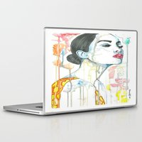watercolour Laptop & iPad Skins featuring watercolour by Udya