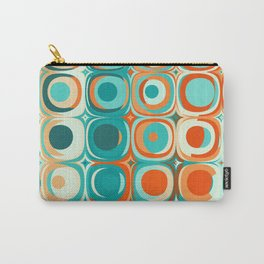 Orange and Turquoise Dots Carry-All Pouch