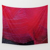 oil Wall Tapestries featuring Red oil by Margheritta
