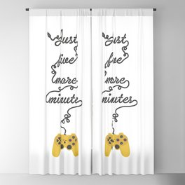 Just Five More Minutes - Video Games Playstation Controller Blackout Curtain