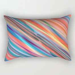 multicolored lines  Rectangular Pillow