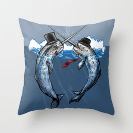Gentlemen's Duel Throw Pillow