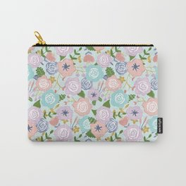 Watercolor Nursery Florals Carry-All Pouch
