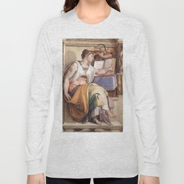 "Michelangelo ""The Erythraean Sibyl"" Long Sleeve T-shirt"
