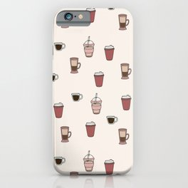 Coffee Doodle Pattern iPhone Case