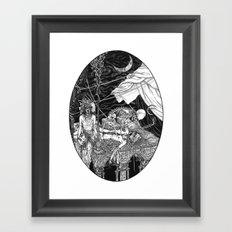 Fleeing Skeleton Framed Art Print