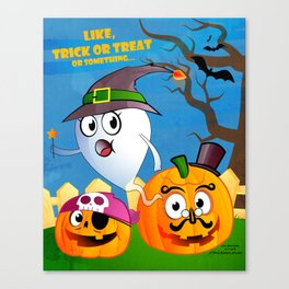 Halloween Ghost - Trick or Treat Canvas Print