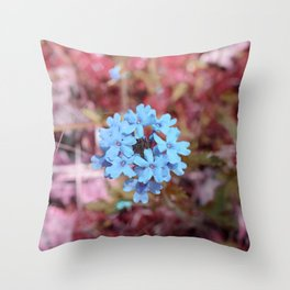 Blue Flowers, Red Thorns ~ Cedars of Lebanon, Tennessee Throw Pillow