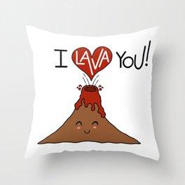 I Lava You! Throw Pillow