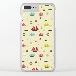 Boats Clear iPhone Case