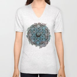 Mandala night Unisex V-Neck