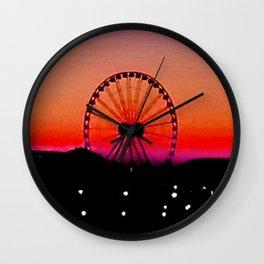 Navy Pier Sunset Wall Clock