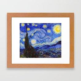 "Vincent van Gogh "" Starry Night "" Framed Art Print"