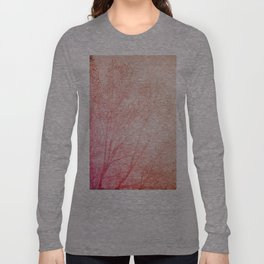 Pink, Brown and the tree Long Sleeve T-shirt