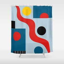 SWIMMERS IN WEIMAR Shower Curtain