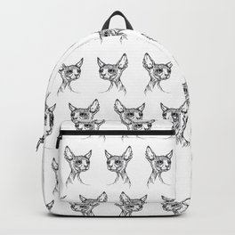 Sphynx cat portrait Backpack
