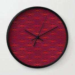 ELEGANT BEED RED TANGERINE PATTERN v3 Wall Clock