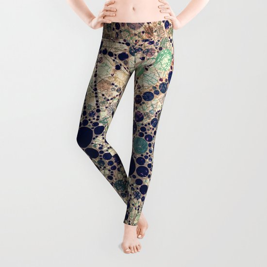 Colorful tree loves you and me. Leggings