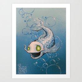 Silvery Fishy Art Print