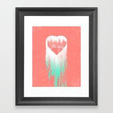LOVE YEW Framed Art Print
