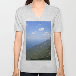 Climb Every Mountain With Wanderlust Unisex V-Neck