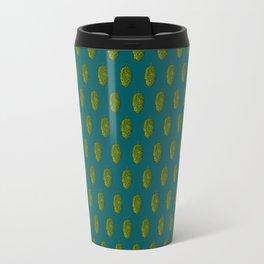 Hops Dark Cyan Pattern Travel Mug