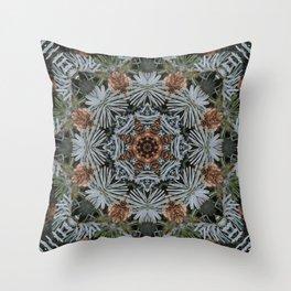 Spruce Cones And Needles Kaleidoscope K4 Throw Pillow