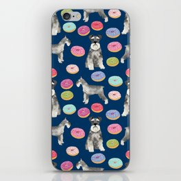 Schnauzer dog breed donuts doughnut pet art schnauzers pure breed gifts iPhone Skin