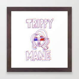 Trippy Mane Framed Art Print