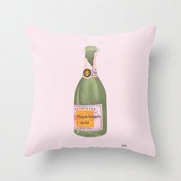 Rose Champagne Throw Pillow