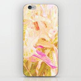 Tropical croton leaves 2/2 iPhone Skin