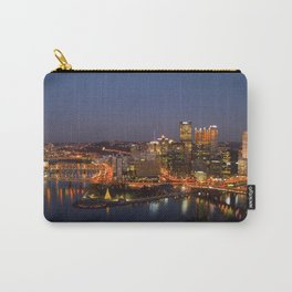 Pittsburgh, Pennsylvania Downtown Night Time River with Bridges Carry-All Pouch