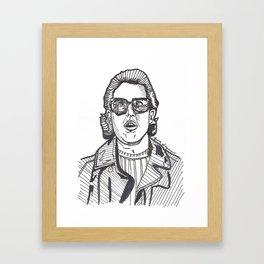 Jerry Seinfeld Drawing Framed Art Print