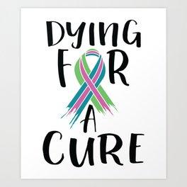 Metastatic Breast Cancer Awareness Art For Women Light Art Print