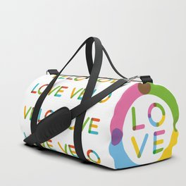 Velo Love – Multicolor – June 12th – 200th Birthday of the Bicycle Duffle Bag