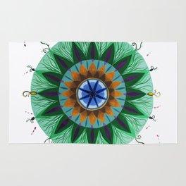 Peacock Mandala Rug