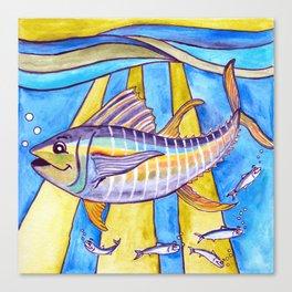 Y is for Yellowfin Tuna Canvas Print