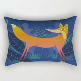 Fox in the Night Forest Rectangular Pillow