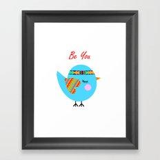 Tribal Bird Framed Art Print