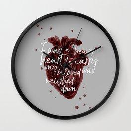 Heavy Heart Wall Clock