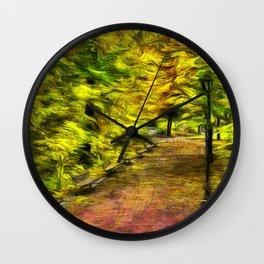 Path through Fall Wall Clock