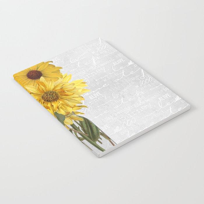 Vintage Sunflower Notebook