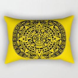 Mayan Calendar // Yellow Rectangular Pillow