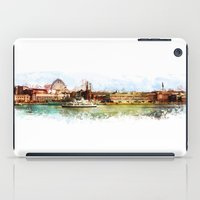 finland iPad Cases featuring Helsinki city panorame, Finland by jbjart