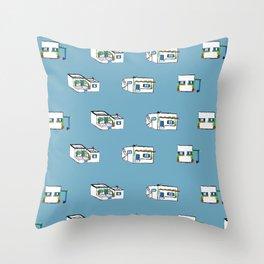 Cycladic Houses Throw Pillow