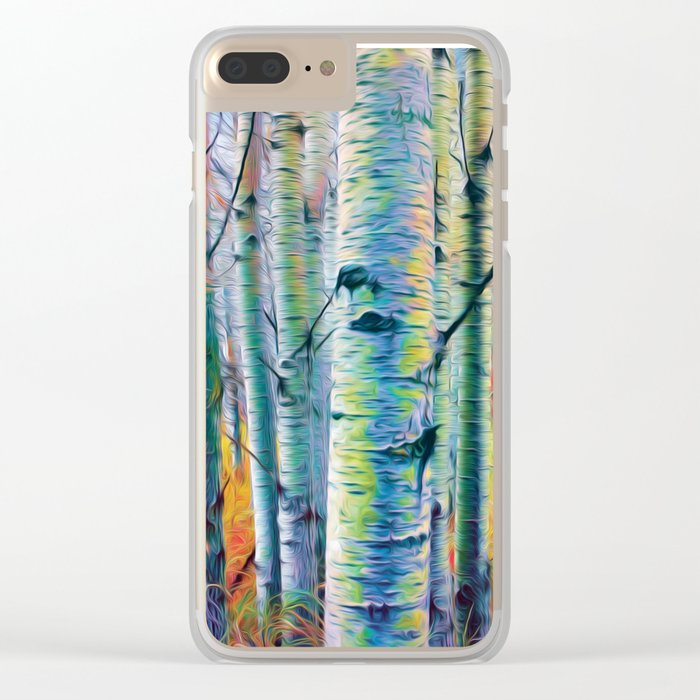 Aspen Trees in the Fall Clear iPhone Case