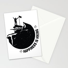 happiness is hiking Stationery Cards