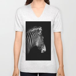 White Stripes Black Stripes Unisex V-Neck